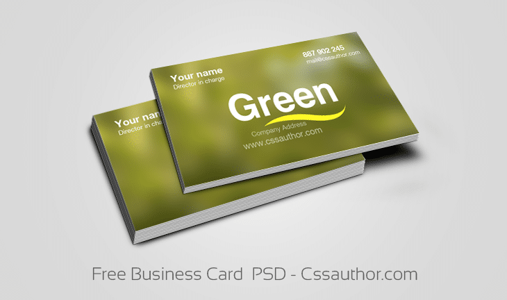 Free Business Card  PSD - cssauthor.com