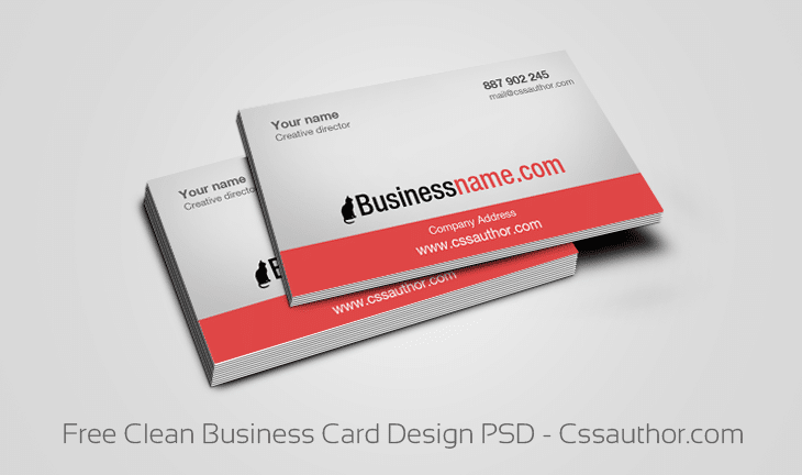 Free Clean Business Card Design PSD