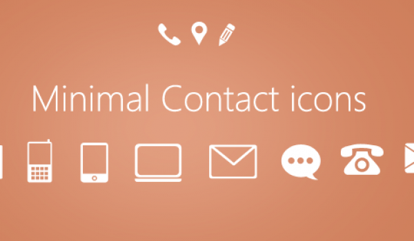 Minimal Contact Icons PSD for Free Download - cssauthor.com