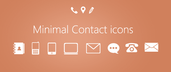 Minimal Contact Icons Psd For Free Download Freebie No 80