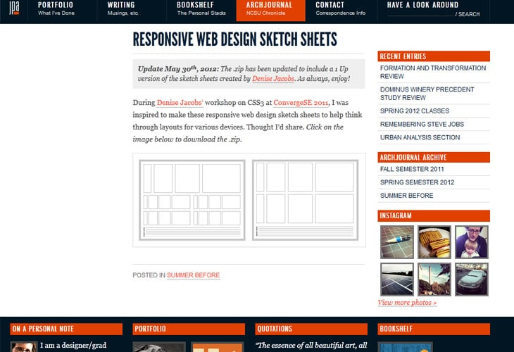 Responsive Web Design Sketch Sheets - Jeremy P Alford