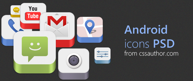 Android Icons Psd For Free Download Freebie No 86