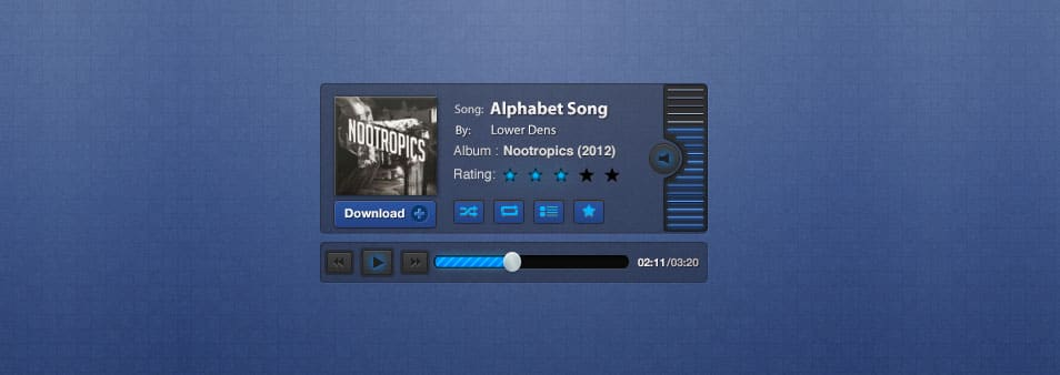 Blueprint Music Player PSD