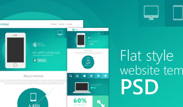 Flat Style Website Template PSD for Free Download - cssauthor.com