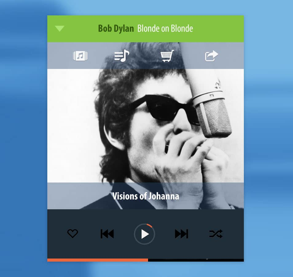 Free Psd Mobile Music Player