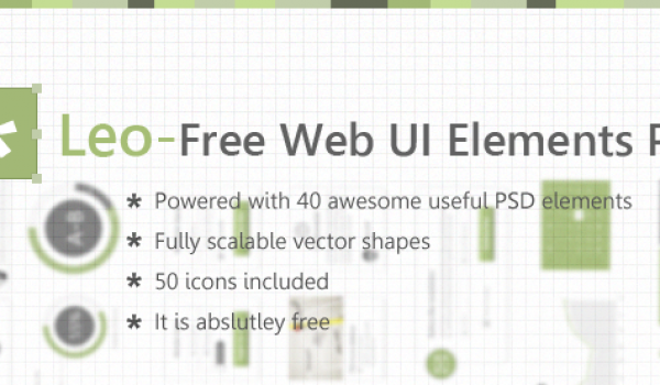 Leo - Free Web UI Elements PSD for Free Download - cssauthor.com