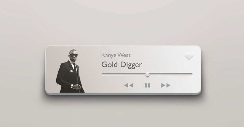 Mini Music Player PSD