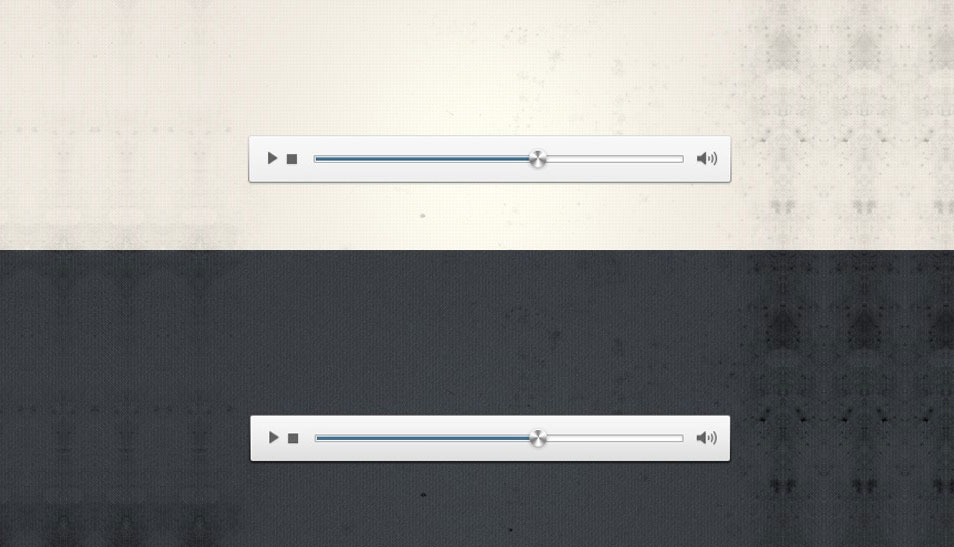 Minimalist Audio Player (Psd)