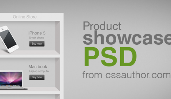 Product Showcase PSD for Free Download - cssauthor.com