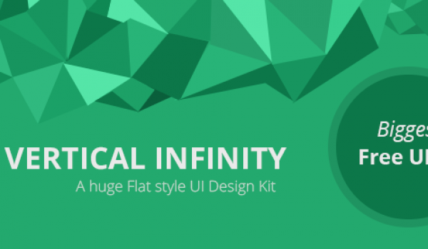 Vertical Infinity - A Mega Flat Style UI Kit for Free Download - cssauthor.com