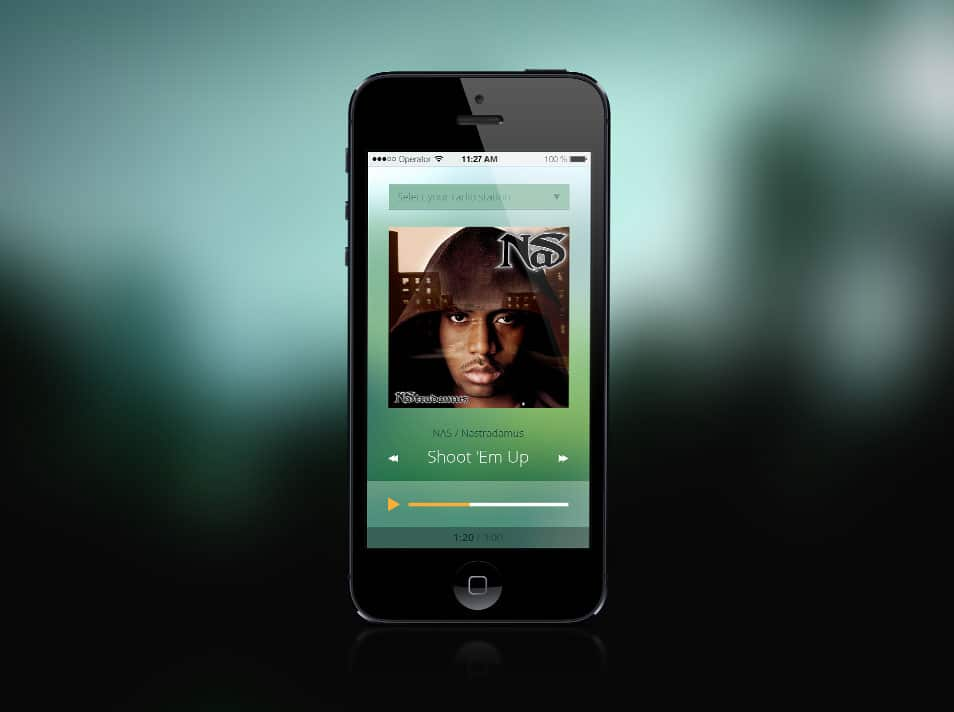 iOS mobile music player