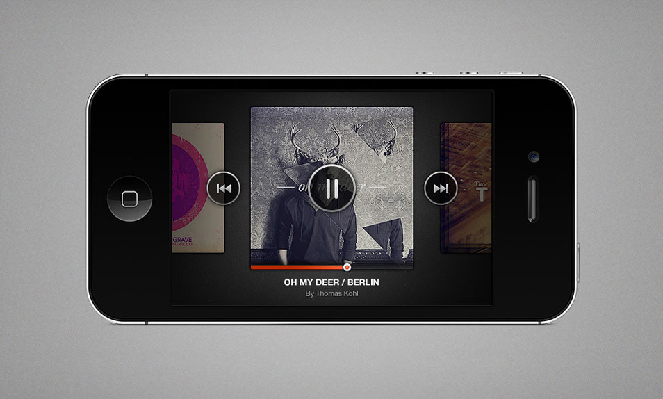 iPhone Music Player (PSD)