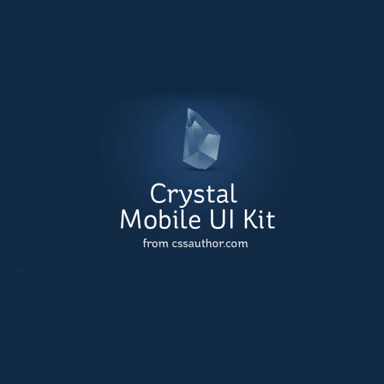 Crystal Mobile Application UI Design PSD