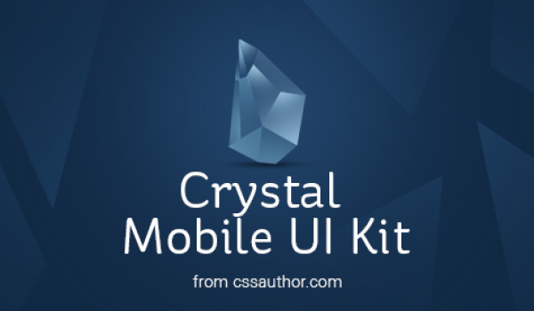 Crystal - Mobile Application UI Design PSD - cssauthor.com