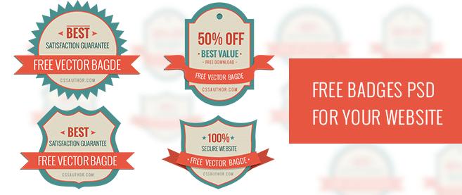 Badge Website free badges psd for your website freebie no 101