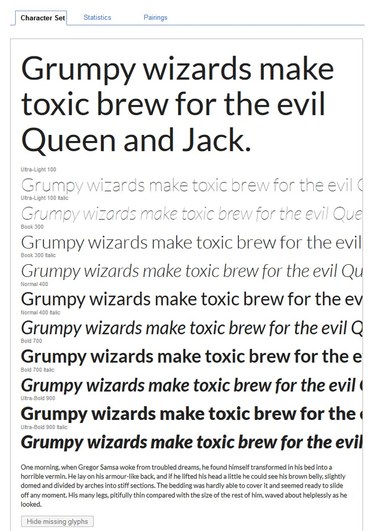 Google Fonts Lato