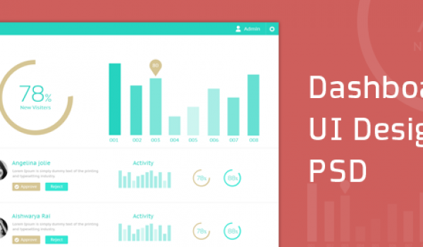 Dashboard UI Design PSD - cssauthor.com