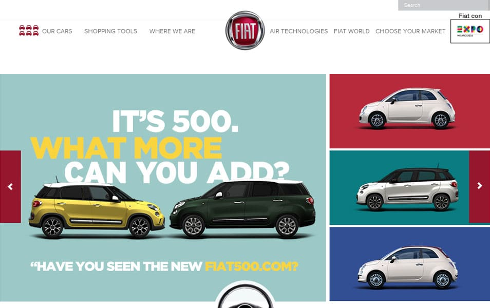 Website Designs Inspired By Cars