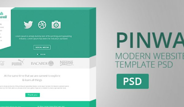 Pinwall - Modern Website Template PSD - cssauthor.com