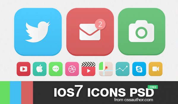 iOS7 Icons PSD - cssauthor.com