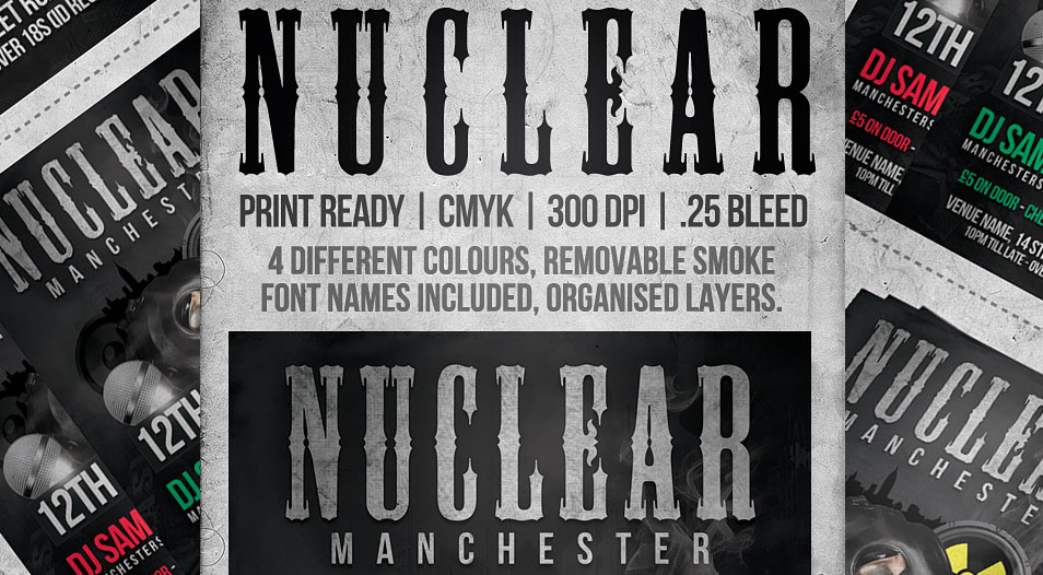 FREE Nuclear Flyer Template PSD