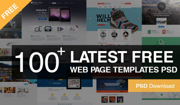100+ Latest Free Web Page Templates PSD -Great Free web Design layouts