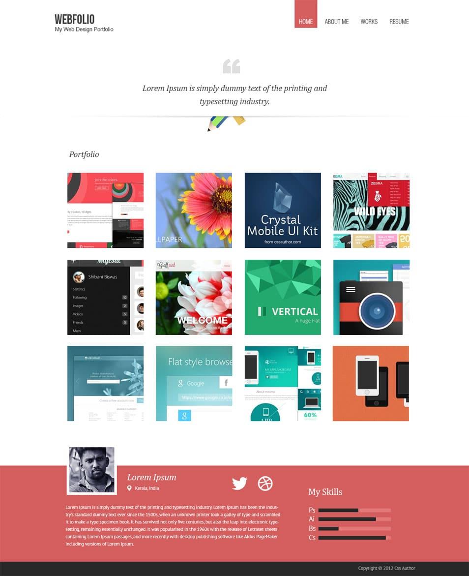 Web Designing Portfolio Template Responsive 2018