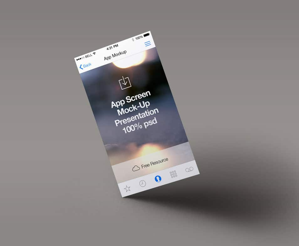 Perspective App Screen MockUp 4