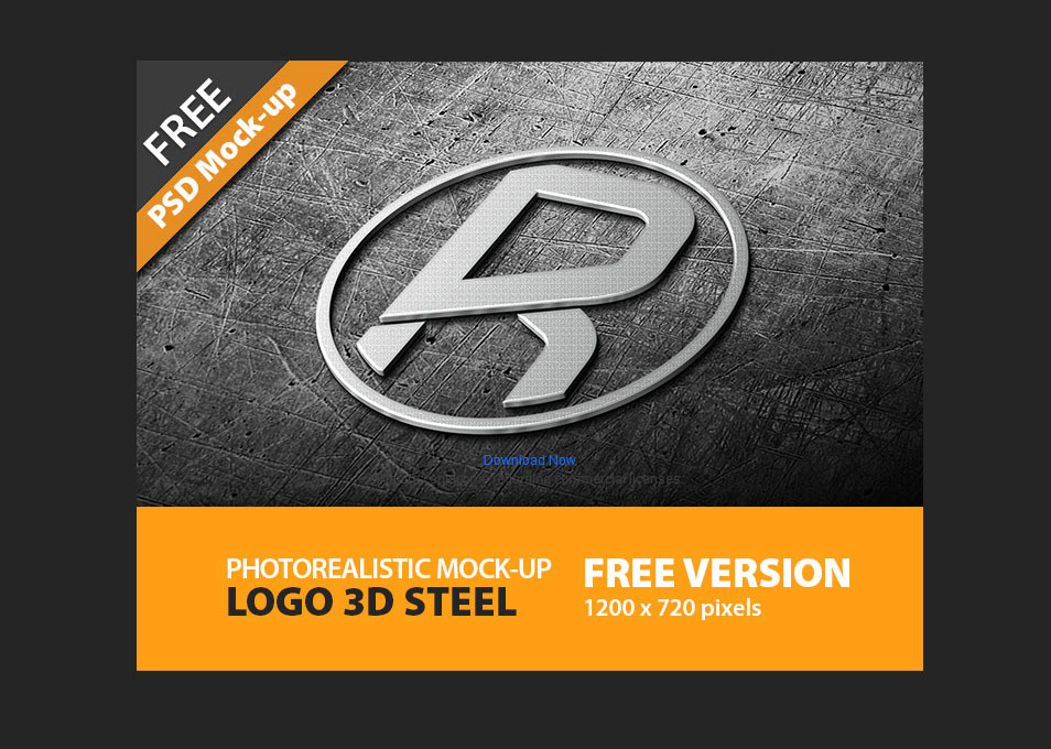 Photorealistic Logo 3D I Mock-Up I FREE