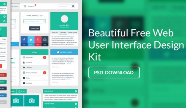 Free Web User Interface Design PSD - cssauthor.com