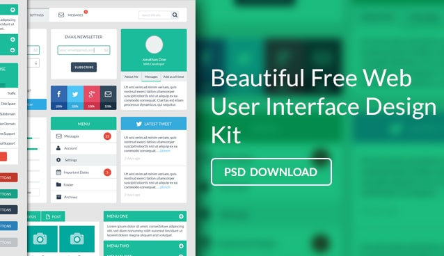 Free Web User Interface Design Kit Psd 171 Css Author