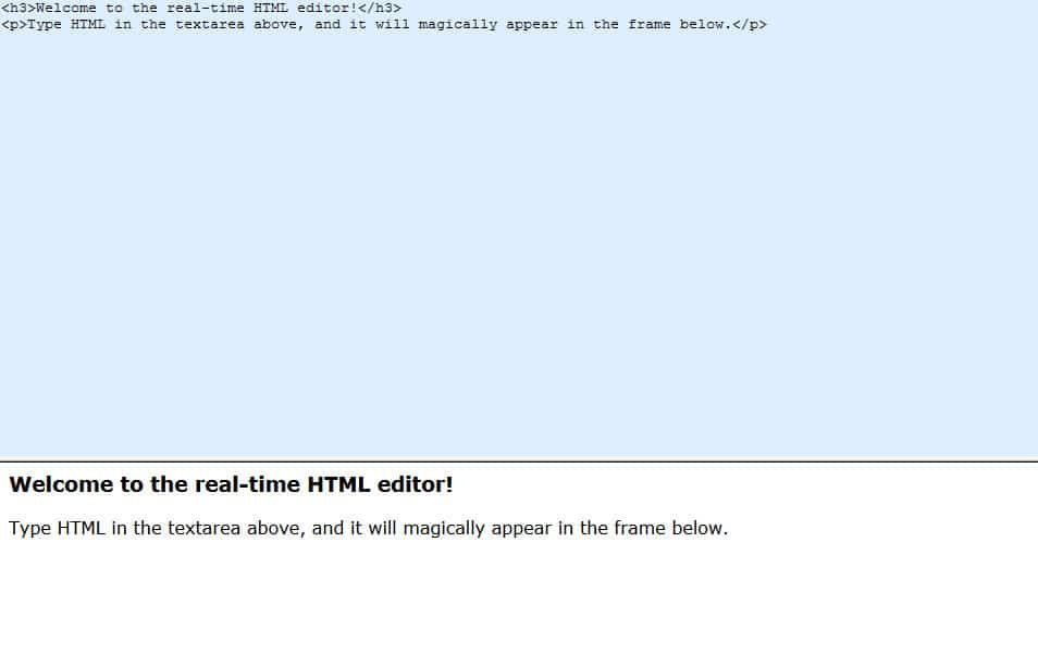 Real-time HTML Editor