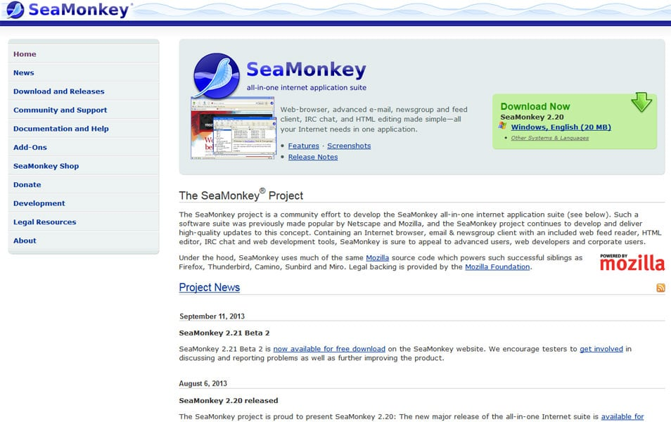 SeaMonkey Composer is a WYSIWYG HTML editor. Web-browser, advanced e ...