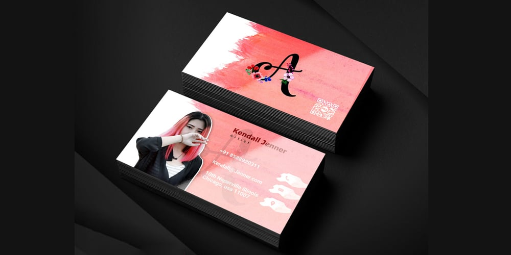 Artist Business Card Template PSD