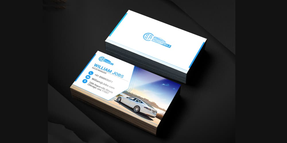 Automotive Business Cards PSD