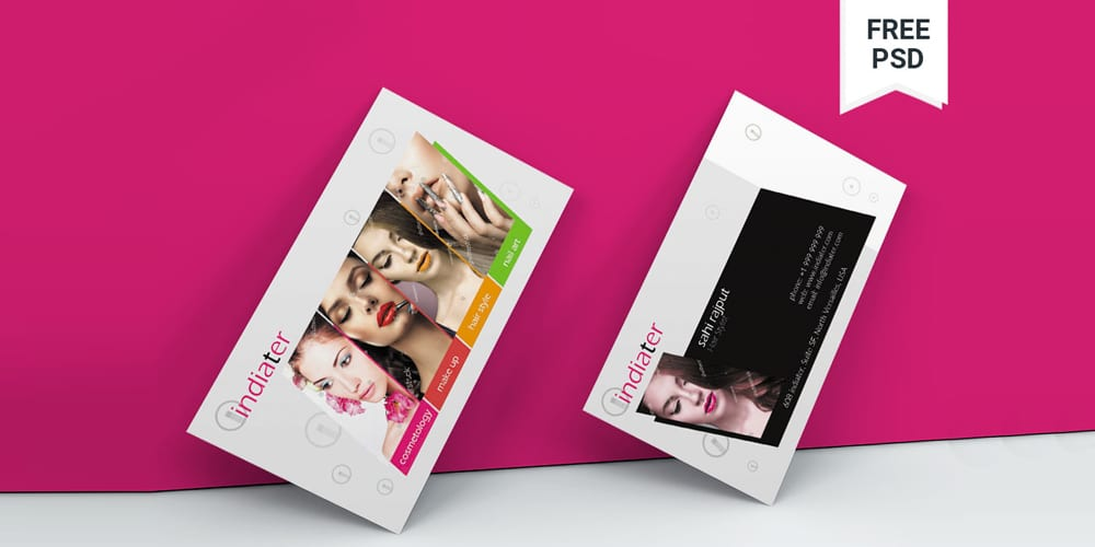 Beauty Business Cards Templates PSD
