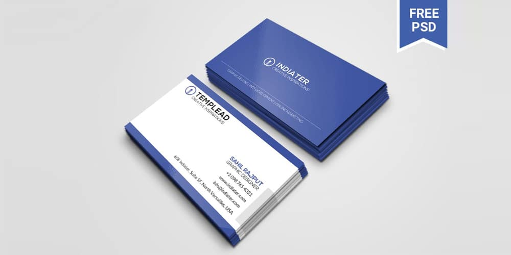Best Company Business Card Template PSD