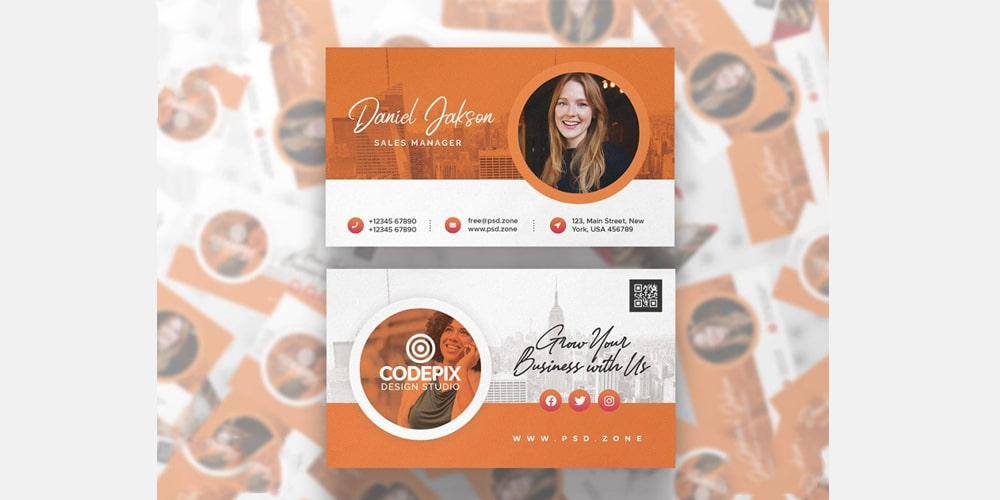 Best Corporate Business Card Template PSD