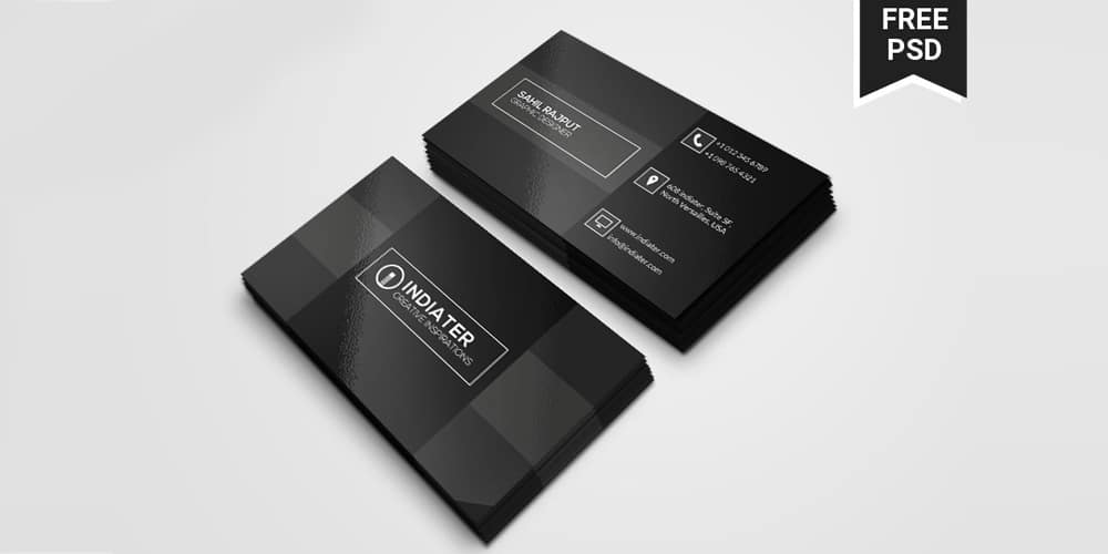 Black Clean And Retro Design Business Card