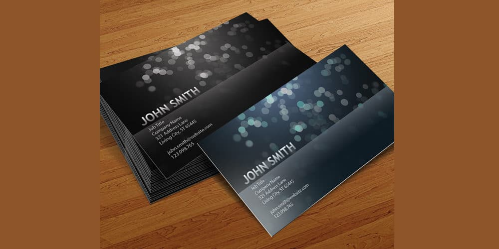 Blurry Circles Business Card Templates PSD
