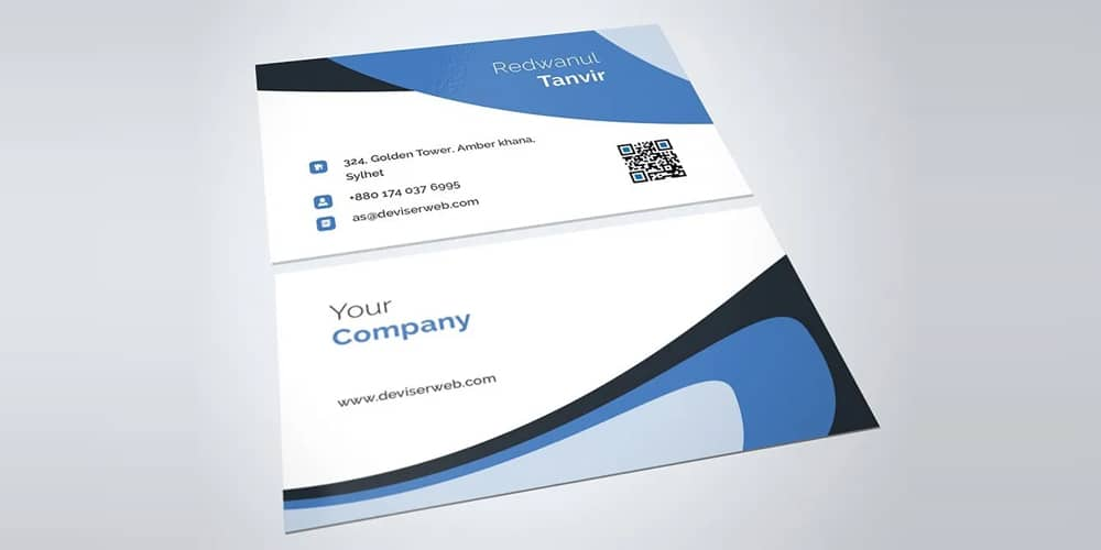 Brandica Corporate Business Card Template PSD