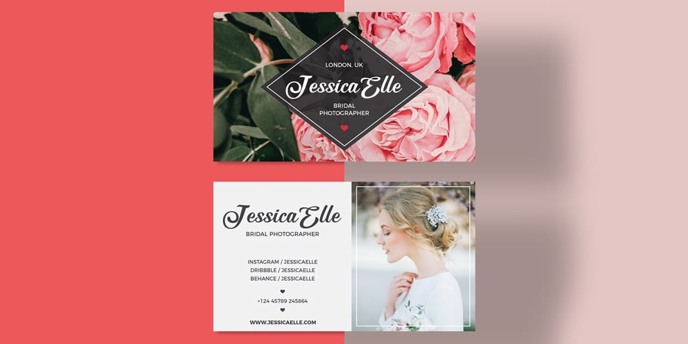 Bridal Photography Business Card Template