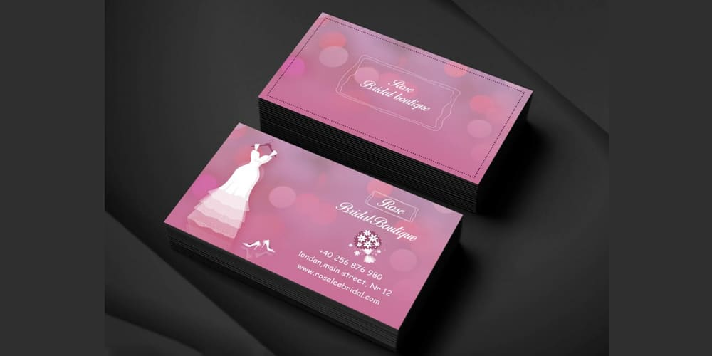 Bridal Boutique Business Card PSD