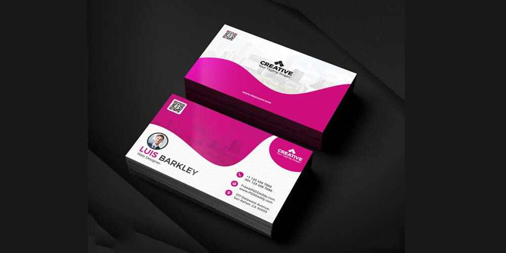 Business Card Design Templates Set