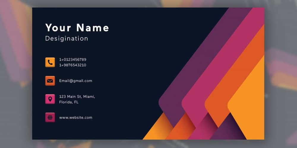Business Card Premium Template PSD