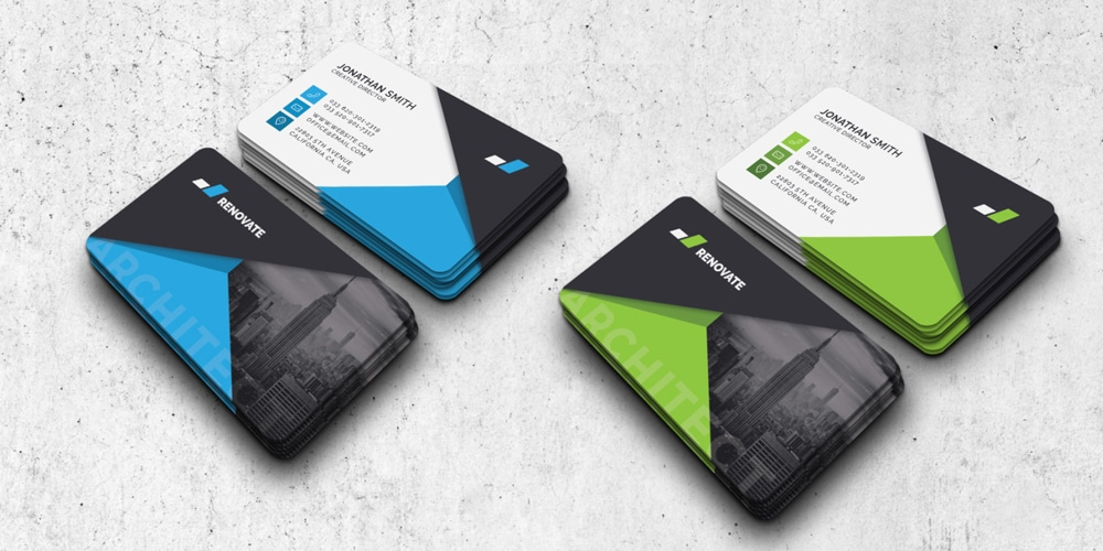 Business Card Template 2 Colors