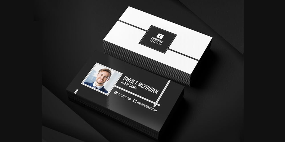 Business Name Card PSD
