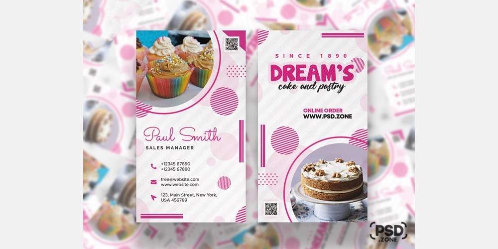 Cake and Pastry Shop Business Card