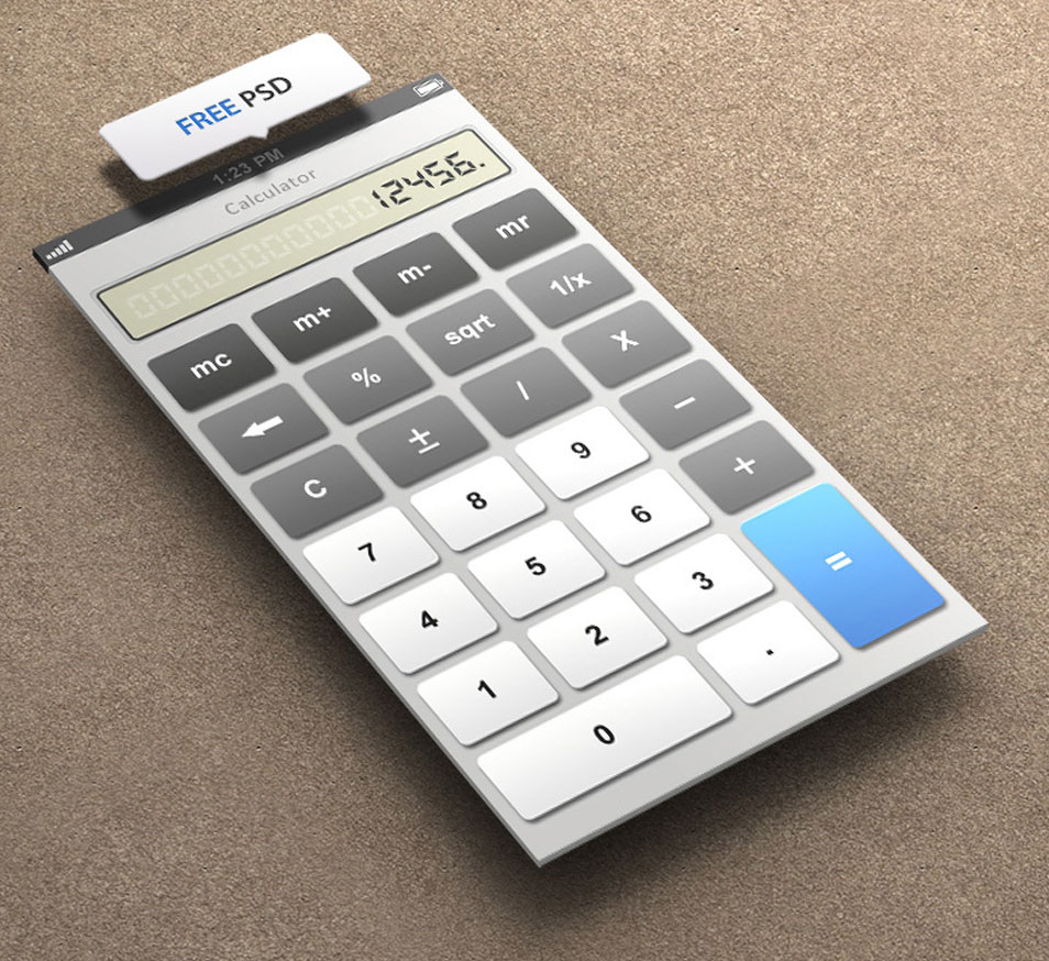 Calculato for iPhone 5 Retina Ready - FREE PSD