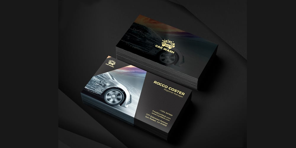 Car Wash Business Card PSD